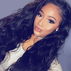 100% humanhair free shipping tangle free water wave full lace wig