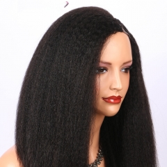 Spicyhair 100% human wig no shedding Glueless  kinky straight U-part lace front wig 3-4 days DHL Free Shipping
