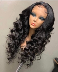 Spicyhair 200% density Tangle Free  No Shedding Fashion Looking Loose Wavy full lace wig Best Quality Wig With Good price  selling directly from facto