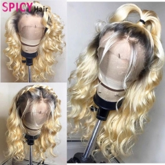 Spicyhair 150% density Fashional Looking dark root #613color Wavy full lace wig best quality with affordable price