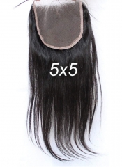 Spicyhair  10A Best Quality Silky Straight 5×5 lace closure 100% human hair no shedding no mix and tangle free.