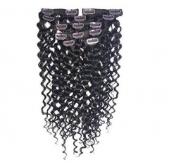 Spicyhair 10A 100%  Good Quality Virgin human Deepwave clip-in hair extensions.