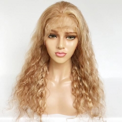 Spicyhair  Best Quality 100% human wigs with baby hair #27 color Water Wave full lace wig
