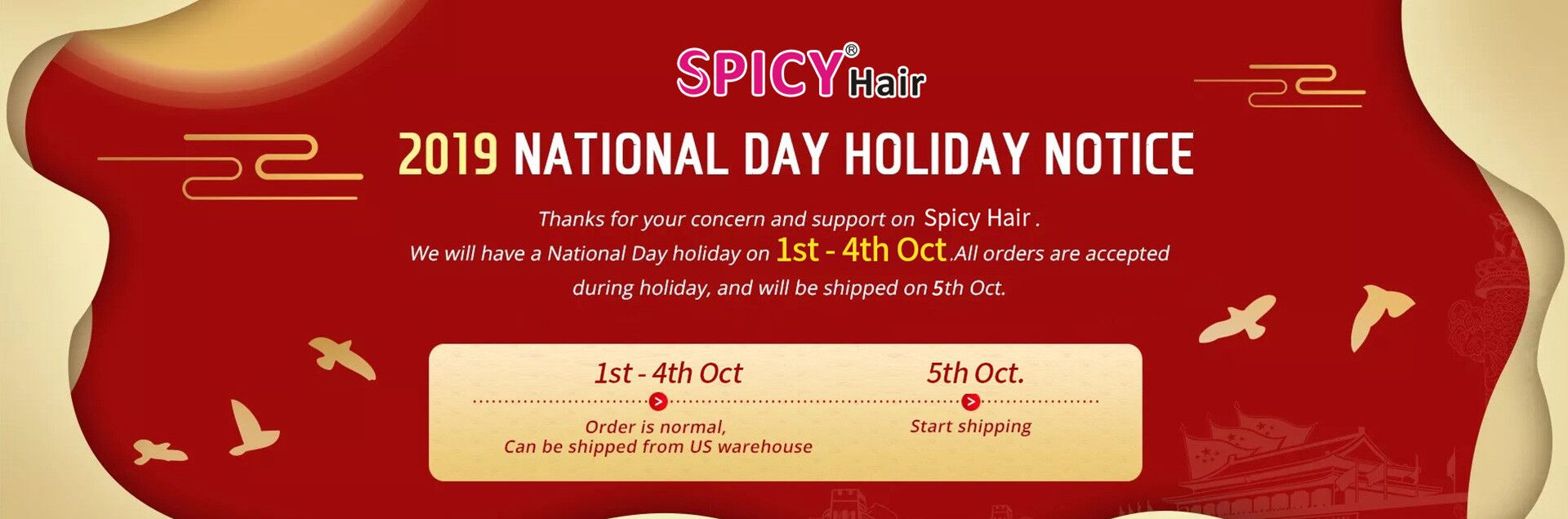 National Day Hair Sale!