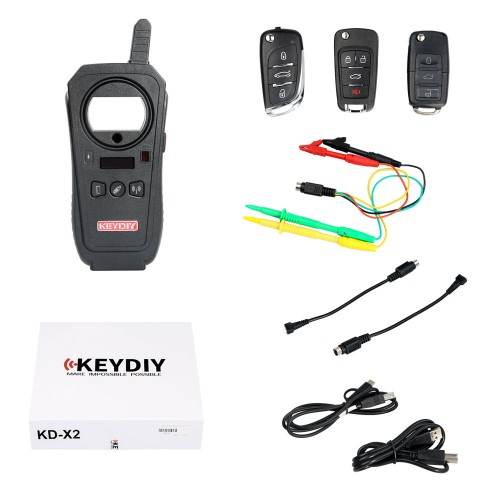 KEYDIY Remote Programmer Chip Copy Frequency Detection Wired Wireless Generation KD-X2