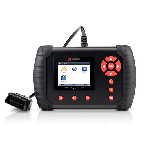 Original VIDENT iLink400 Full System Scan Tool Single Make Support ABS/SRS/EPB//DPF Regeneration/Oil Reset Update Online for Three Years