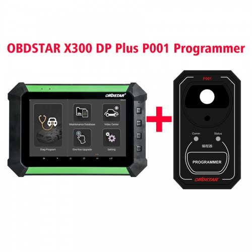OBDSTAR X300DP X-300DP PAD Key Master Tablet Key Programmer Full Configuration Plus P001 Programmer RFID & Renew Key & EEPROM Functions 3 in 1