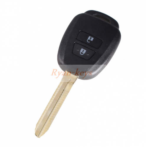 10x Remote Key Shell Case For Toyota Corolla Camry Reiz New Vios RAV4 Crown 2 Buttons Key Fob Cover