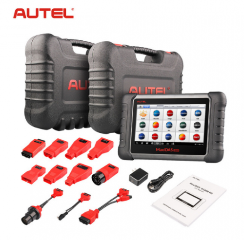 Latest AUTEL MaxiDAS DS808 KIT Tablet Diagnostic Tool Full Set Support Injector & Key Coding Update Online