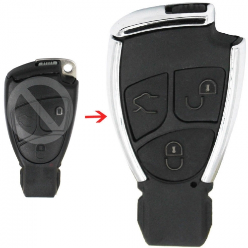 Modified Smart Remote Key Shell Case Fob 3 Button for Mercedes Benz CLS C E S