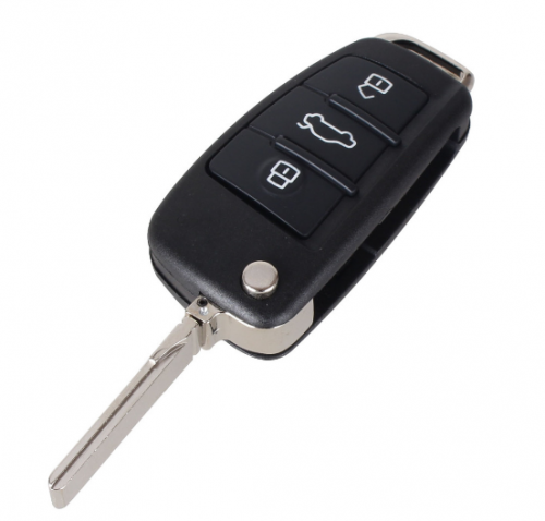 3 Buttons Filp Folding Key Remote Case Shell For Audi A6 A2 A3 A4 A6L A8 TT