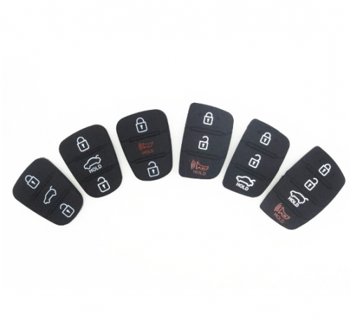 Replace Rubber pad 3 Buttons Flip Car Remote Key Shell FITS For Hyundai i30 i35 Solaris picanto key cover case