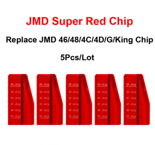 New Original JMD Super Red Chip for Handy Baby 46+4C+4D+T5(11,12,13,33)+G (4D-80bit)​​​​​​​+47+48
