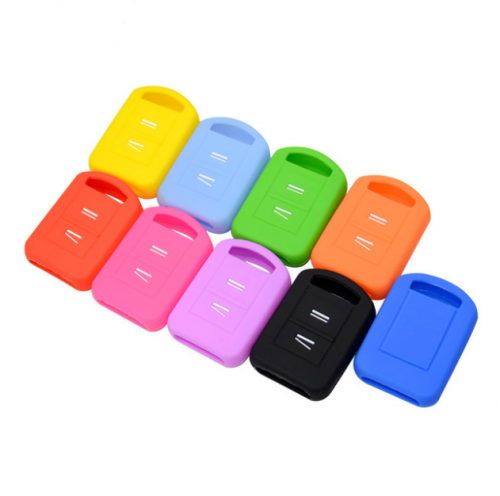 10pcs Replacement Silicone Car Key Case Fob Cover For Vauxhall Opel Corsa Agila Meriva Combo 2 Button Remote Key Shell Holder