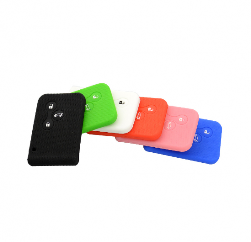 10pcs Soft Silicone Rubber Car Key Shell Case Cover For Renault Clio Megane Grand Scenic High Quality 3 Buttons Auto Key Case Holder