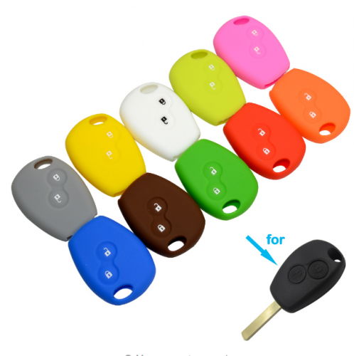 10pcs 2 Buttons Silicone Rubber Car Remote Key Case Cover For Renault Kangoo DACIA Scenic Megane Sandero Captur Twingo Modus