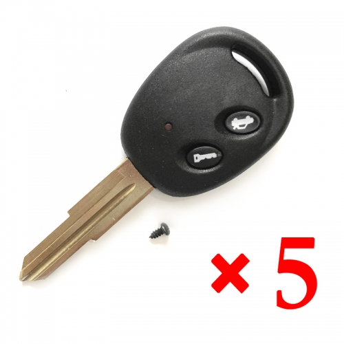 2 Button Remote Key Shell for Chevrolet Epica (5pcs)