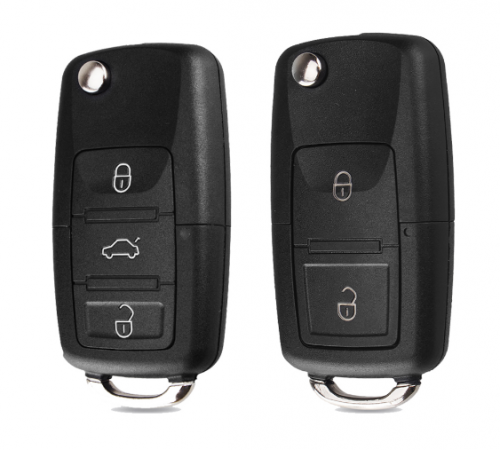 2 buttons Folding Car Key Remote Key Flip Folding Key Shell Case Fob For Volkswagen Vw Jetta Golf Passat Beetle No Blade