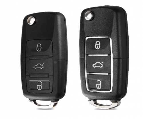 Flip Folding Car Key Shell Fob Case For Volkswagen Vw Jetta Golf Passat Beetle Polo Bora 3 Buttons Remote Key Fob Case