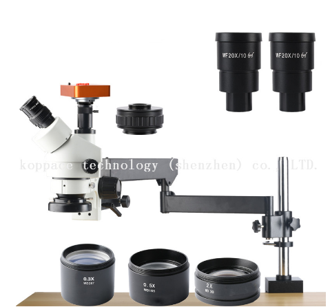 2.1X-180X,21MP Full HD 1080P 60FPS HDMI Industry Microscope,0.7X-4.5X Zoom Objective,Trinocular Stereo Microscope