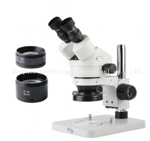 KOPPACE 3.5X-90X Binocular Stereo Zoom Microscope WF10X Eyepieces LED Ring Light 0.5X/2X lens Mobile phone repair microscope