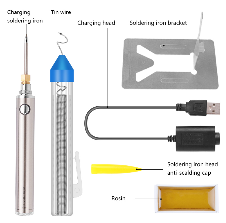 Handskit 5V 8 W Soldering Iron Wireless Charging Soldering Iron Mini portable Battery Soldering Iron with USB Welding Tools