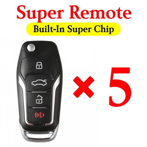 Xhorse Super Remote Ford Style Comes within Super Chip - Can Be Used for all Possible ID - 5 pcs / pack