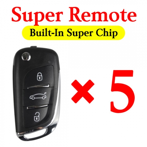 Xhorse Super Remote Comes within Super Chip - Can Be Used for all Possible ID - 5 pcs / pack