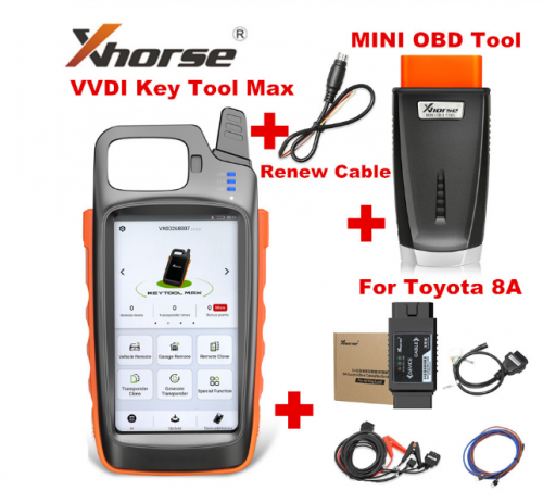 VVDI Key Tool Max + MINI OBD Tool + Toyota 8A All Keys Lost Adapter + Renew Cable DHL free shipping