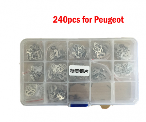 240 PCS LOCK Plate Used for Peugeot Car Lock Reed Car Lock Repair Accessories Kits No.1-12 20PCS/Each Auto Key Part