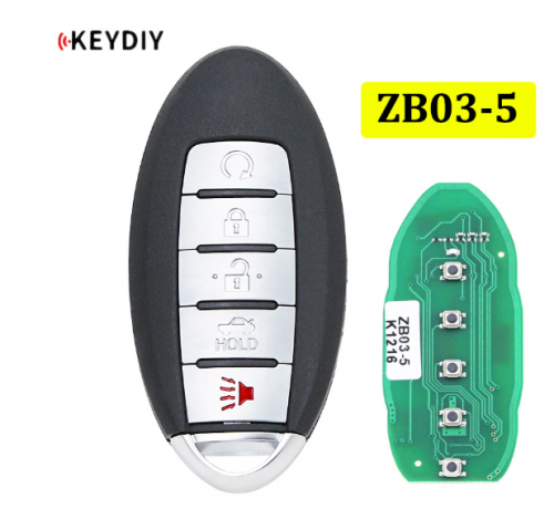 Universal ZB03-5 KD Smart Key Remote for KD-X2 Car Key Remote Replacement Fit More than 2000 Models