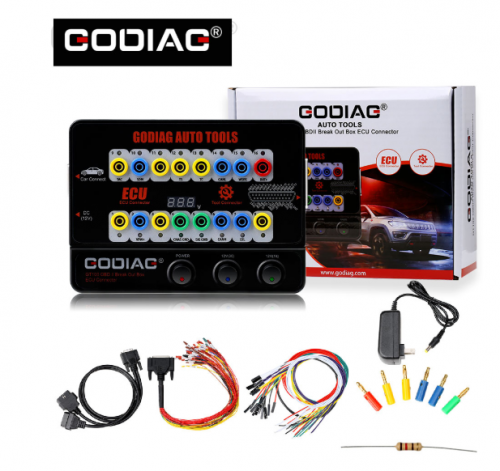 GODIAG GT100 AUTO TOOLS OBD II Break Out Box ECU Connector