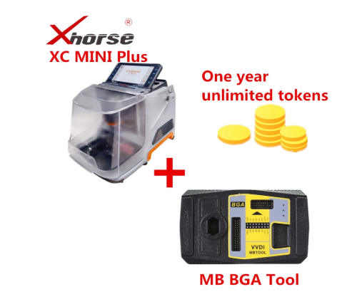 Xhorse iKeycutter CONDOR XC-MINI Master Plus V4.9.0 VVDI MB BGA Tool Get Ony Year Unlimited Tokens Support W210 All Key Lost