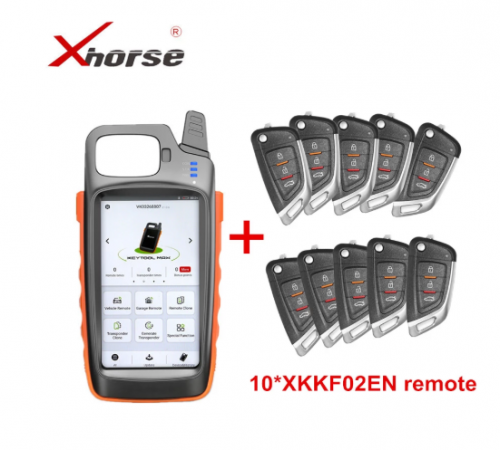 XHORSE VVDI KEY TOOL MAX Remote and Chip Generator With 10pcs Universal XKKF02EN Remote Keys Get Free ID48 96bit Function