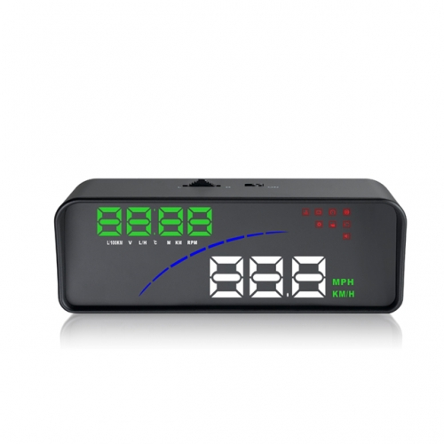 3.5 Inch hud P9 Car Hud Head Up Display With OBD2 Overspeed Alarm