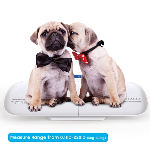 Pet Scale, Multi-Function Digital Baby Scale to Measure Dogs, Cats, Adults Weight Accurately(Max: 220 lbs), with 3 Weighing Modes(Max: 29 inch)
