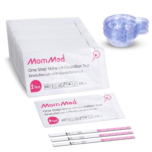 Ovulation Test Strips(LH60)with Free 60 Collection Cups, Reliable LH Surge Predictor OPK Kit, Accurately Track Ovulation Test, High Sensitivity Result