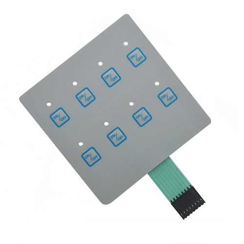 Embossing Tactile Button 3m Metal Dome Membrane Switch Keypad
