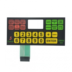 Custom design silver flex tactile poly dome membrane switch