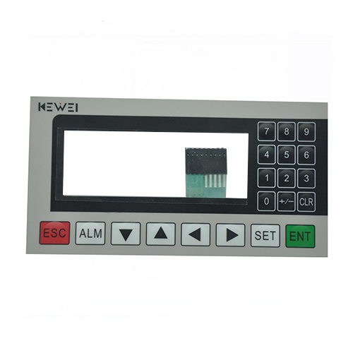 OEM transparent window poly dome membrane switch keypad