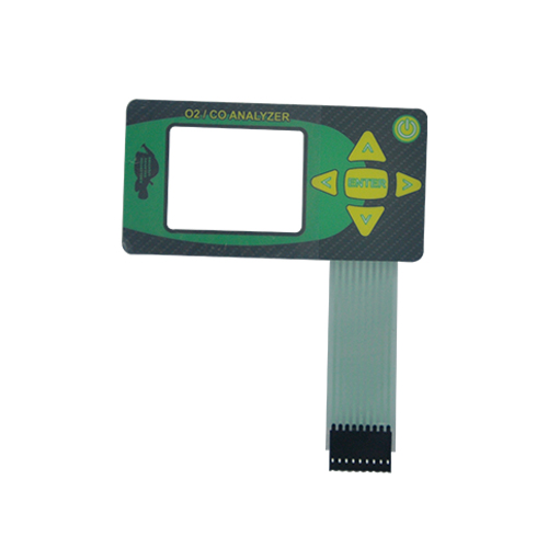 Membrane switch with backlighted