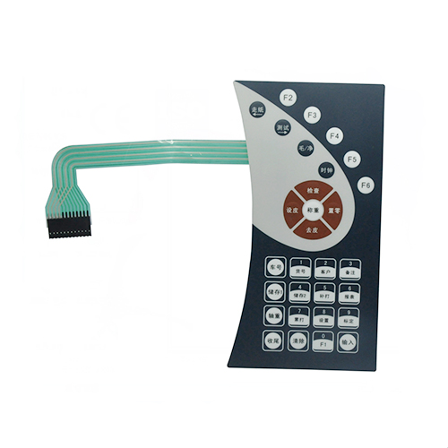 Poly dome tactile membrane switch for paper cutting machine