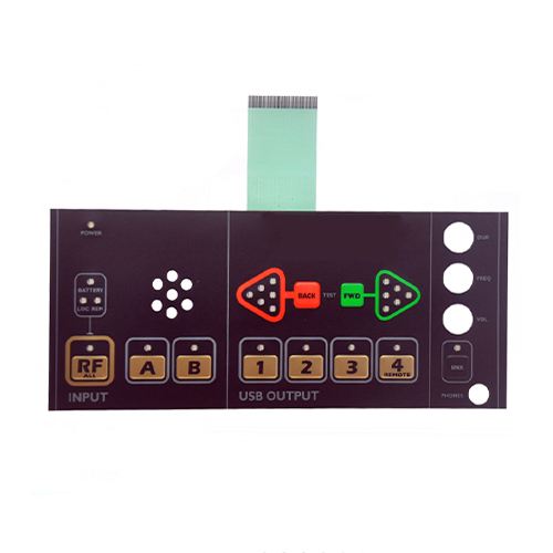 Metal dome remote presentation system control membrane keypad panel