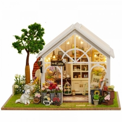 Cutebee Diy Dollhouse Miniature Kit with Furniture, Wooden Mini Miniature Dollhouse kits, Casa Miniatura Dolls House Decor Craft Figurines