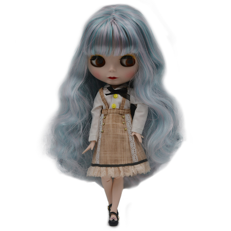 """12/"""" Neo Blythe Doll from Factory Nude Doll More Color Partial Part Curly Hair"""