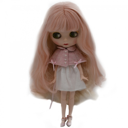 Blythe Doll BJD, Neo Blythe Doll Nude Customized Frosted Face Dolls Can Changed Makeup and Dress DIY, 1/6 Ball Jointed Dolls SNO30