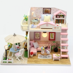 Cutebee Diy Dollhouse Miniature Kit with Furniture, Wooden Mini Miniature Dollhouse kits, Casa Miniatura Dolls House Toys for Children
