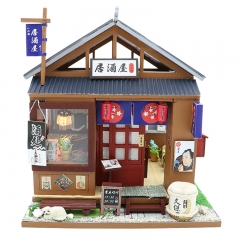 CUTEBEE DIY Doll House Wooden Doll Houses Miniature dollhouse Furniture Kit Toys for children Christmas Gift M037