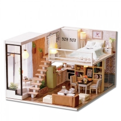 CUTEBEE Dollhouse Miniature with Furniture, DIY Wooden Doll House Miniaturas Kits 1:24 Scale, Great Idea for Christmas Gift