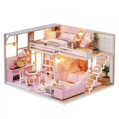 DIY Doll House Wooden Doll Houses Miniature dollhouse Furniture Kit Toys for children Christmas Gift L025